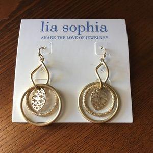 Gold Lia Sophia Earrings NWT